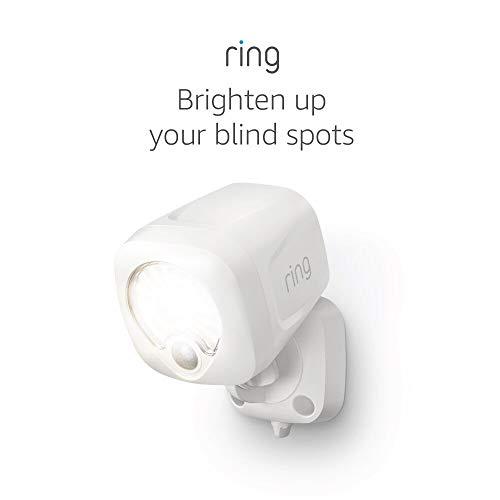 Ring Smart Lighting – Spotlight, Battery-Powered, Outdoor Motion-Sensor Security Light, White (Ring Bridge required)