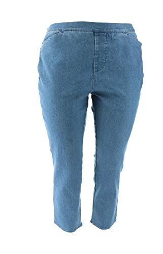 Liz Claiborne NY Hepburn Pull-on Slim Leg Jeans Light Indigo 26P New -