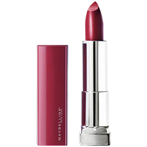 Maybelline New York Color Sensational Made for All Lipstick, Plum For Me Satin Purple, 0.15 Ounce