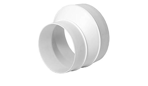 Adaptador reductor para tubo de ventilación de tubo de ventilación (125 mm hasta 100 mm): Amazon.es: Bricolaje y herramientas