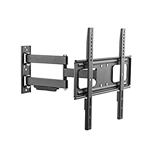"Mount Plus MP-LPA36-443W Outdoor Full Motion Swivel Weatherproof Tilt TV Wall Mount for Most 32""~60"" TVs Perfect Solution for Outdoor TV (Max VESA 400x400)"