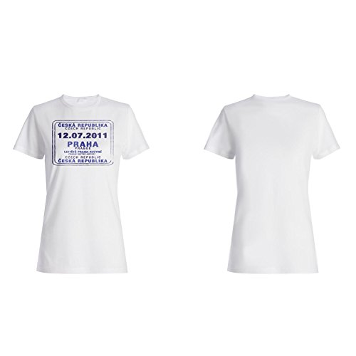 Praha tschechische republik stempelweinlese Damen T-shirt f426f