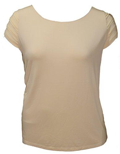 Lauren Ralph Lauren Plus Size Pintucked Cap-Sleeve Top (2X, Modern Cream)