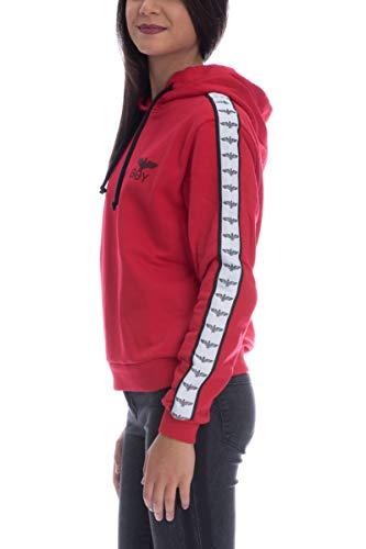 Boy Boy London e Grain BLD1577 Cappuccio Bande con con con Rubino Donna Stampa Logo Felpa Gros SSTZFr