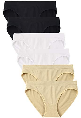 Wealurre Women's Hipster Panties Underwear Low Rise Bikini Panty Multipack(5117M,A2/B2/W2)