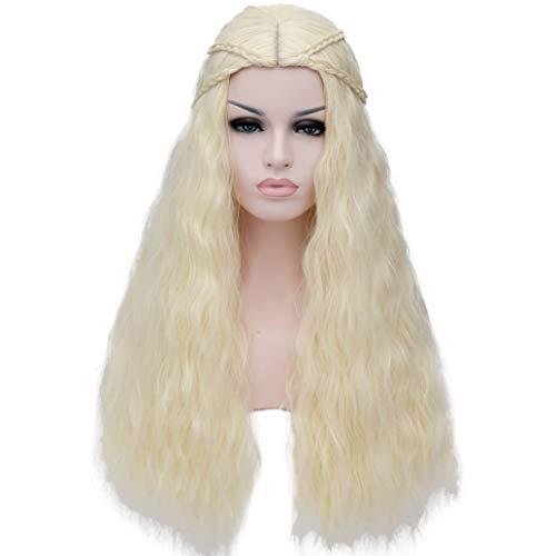 Daenerys Targaryen Cosplay Wig for Game of Thrones Khaleesi Halloween Costumes (Blonde) BU148