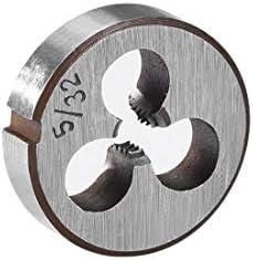 uxcell 5//32-32 BSW Right Hand Round Die Machine Thread Die Threading Die Screw Die Tool HSS High Speed Steel