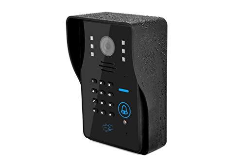 Intelligent Video Doorbell, 1080P Password WIFI/IP Wireless Doorbell Mobile Phone Remote Video Intercom Network Home Villa Electronic Smart Cat ()