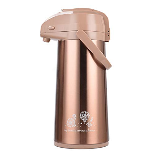 2.2 LStainless Steel Insulation Pot Glass Liner Thermos Bottle Press Type Insulation Kettle Cold Liquids Pneumatic For Household (color : Gold, Size : 2.2L) from Zcxbhd