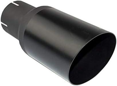 Auspuffblende Endrohr NBL1-08-1*//55 schwarz matt rund abgeschr/ägt 80mm Auspuff Sportauspuff Optik Blende Edelstahl Anschlu/ß 55mm