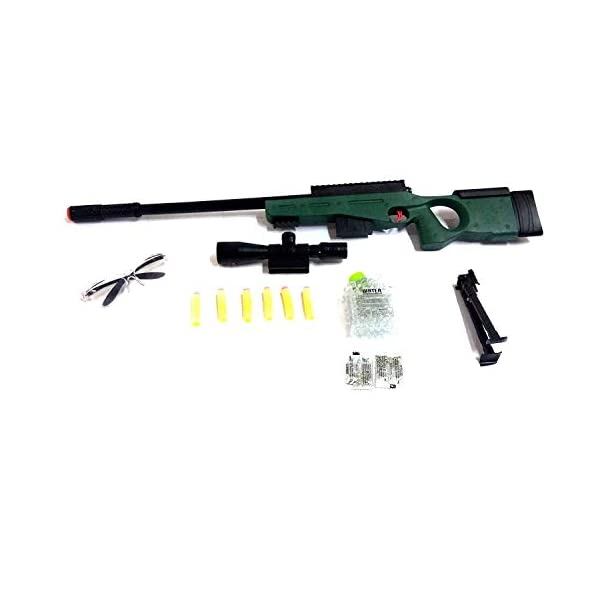 TEMSON Kids High Grade Sniper Gun Toy Big Size 31 inches with Water Crystal Bullets and Soft Bullet Dart – Play Toy Gun