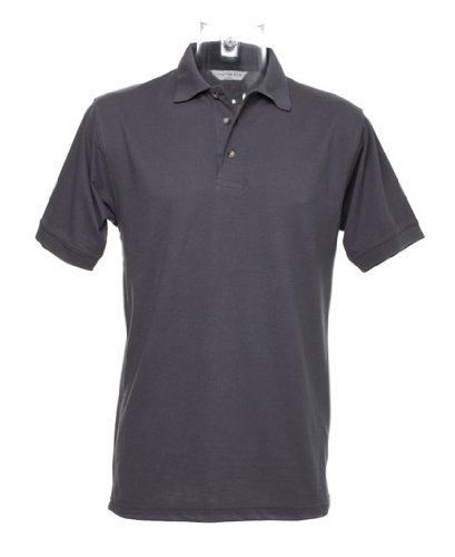 Workwear-Maglia stile polo con superwash® 60 °C grigio X-Small