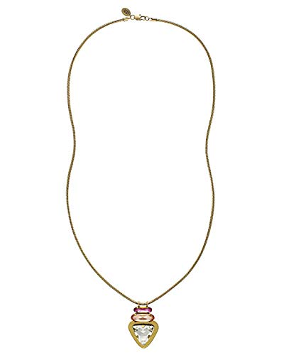 Juicy Couture Black Label Triangle Stone Antique Gold Snake Chain -