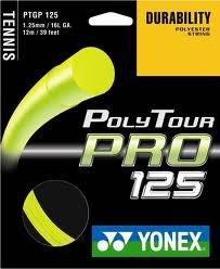 Yonex Tennis String Poly Tour Pro 125 Durability Polyester String, Flash Yellow