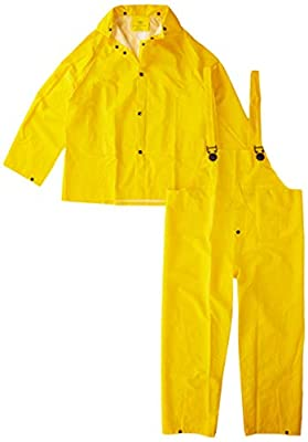 3PR0300YM Boss 3PR0300YM Medium Yellow 3-Piece Lined PVC Rain Suit from Boss Gloves