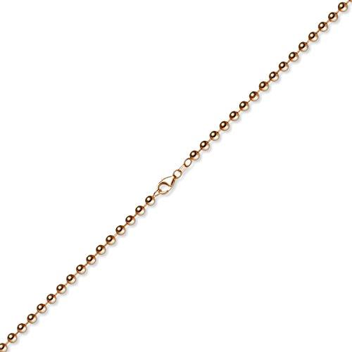5 Mm, couleur les bracelets bracelet chaîne en or rose 585-19 cm