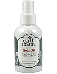 Earth Mama Belly Oil to Help Ease Skin and Stretch Marks, 4-Fluid Ounce (2-Pack)