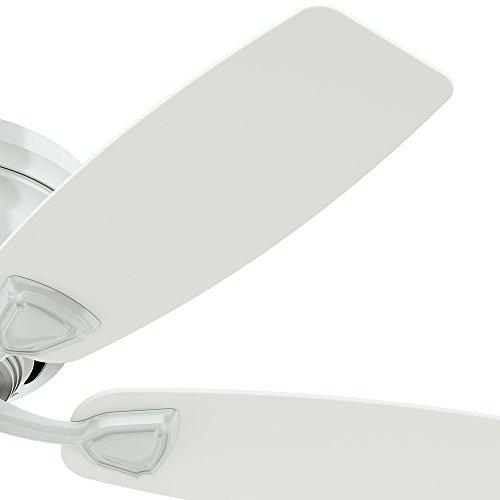 Hunter Sea Wind 48 White Ceiling Fan At Menards: Hunter 53119 Sea Wind 48-inch ETL Damp Listed, White