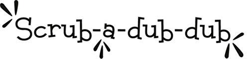Dub Dub Frame Child (Kuqime Peel and Stick Removable Wall Stickers Scrub-A-Dub-Dub for Bathroom Washroom)