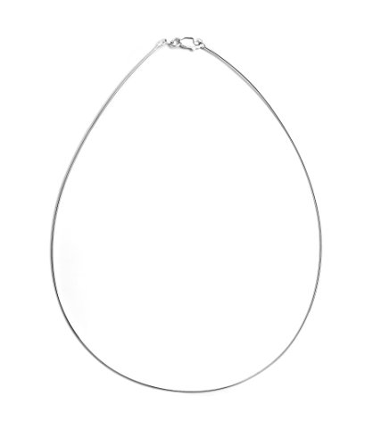Pori Jewelers 925 Sterling Silver 1.5MM Round Omega Chain - for Women - Lobster Claw Clasp-16 ()