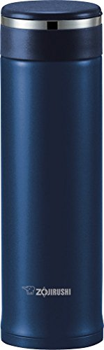 Zojirushi SM-JTE46AD Stainless Steel Travel Mug with Tea Leaf Filter, 16-Ounce, Deep Blue (Mug Japanese Travel)
