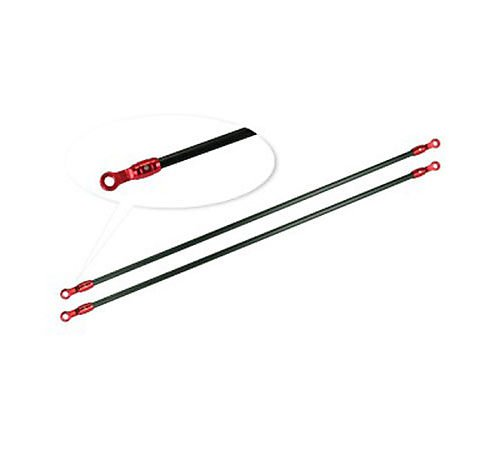 Red Aluminum/Carbon Tail Boom Support Set: Blade 180 CFX