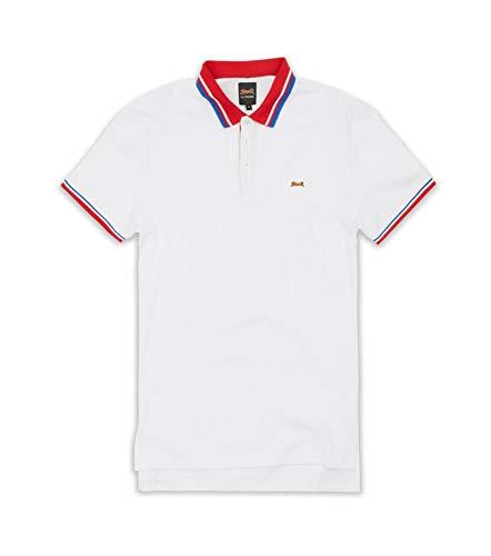 Le TIGRE Collection Men's Biscayne Signature Contrast Polo Shirt (White, Medium) ()