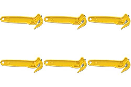 Pacific Handy Cutter DFC364 Film Cutter, w/ Tape Splitter, Disposable, Yellow, 6 (Disposable Film Cutter)