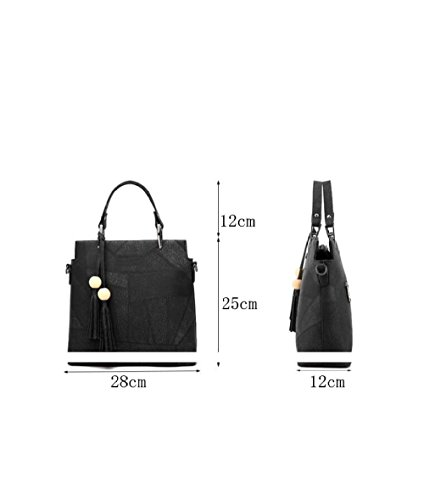 Retro Fitting Bag Bag Women Shoulder Retro Fashion Messenger Tassel Winered Dhfud qPx0Hpx