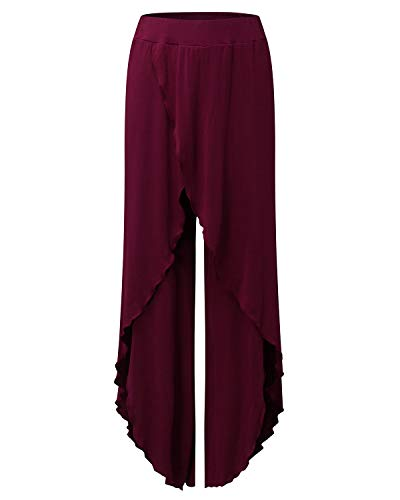 Lungo Pigiama Hop Jumpsuit Wide Tuta Pantaloni Boho da Danza Pants Estivo Palazzo Harem Gamba Pantalone Chic con Hip Spacco Larghi Palestra per Hippie Trousers Baggy Rosso Donna Yoga Sportivi Jogging Leg FF8wqR6