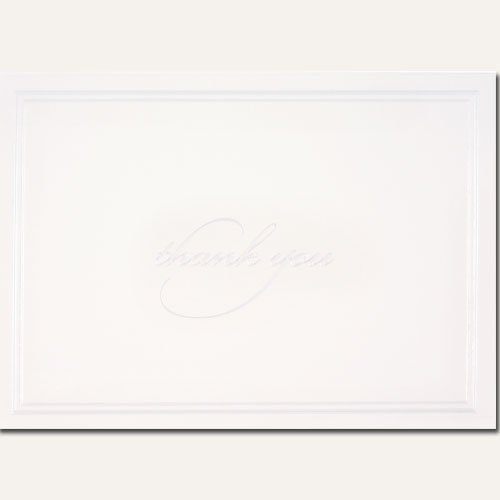 (White Pearl Border Thank You Cards )