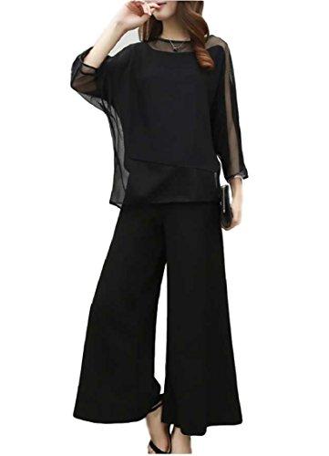 報いる乳白色学習[TradeWind] パンツドレス セットアップ スーツ ワイドパンツ オールインワン レース 袖あり 結婚式 二次会 お呼ばれ