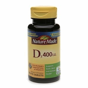 Nature Made vitamine D3 400 UI, 100 comte (Pack de 2)