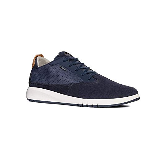 Geox U Aerantis A Mens Leather Sneakers/Shoes-Navy-11