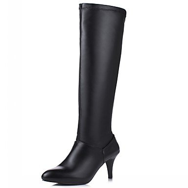 Pu Over For Knee Boots Boots Toe Leatherette Fall Fashion 5 Shoes Heel Novelty Round Boots amp;Amp; CN37 Party Winter Comfort The Women'S US6 UK4 5 RTRY 7 5 EU37 Stiletto HEqwZxTU