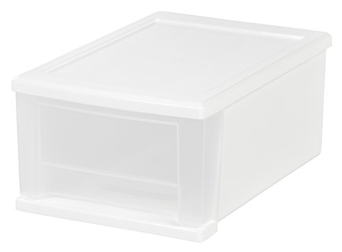 IRIS Quart Stacking Drawer White