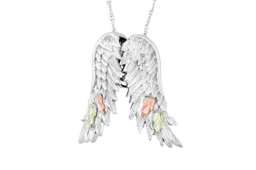 Black Hills Gold Jewelry Silver Angels Wings - Pendant Gold Angel Black Hills
