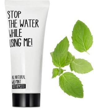 STOP THE WATER WHILE USINGME! All Natural Toothpaste - Cleans Teeth, Protects Gum Decay, Prevents Gingivitis & Whitens Teeth, Wild Mint, Paraben & Cruelty Free, 2.6oz ()