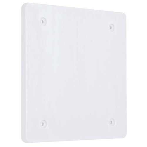 (Hubbell-Bell PBC200WH Blank Weatherproof Nonmetallic Device Cover, Two Gang, White)