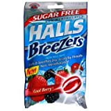 Halls Cool Berry Sf Size 21 Ct