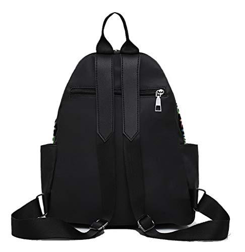 Décontractée Noir Sacs AalarDom à TSFBG182072 Achats bandoulière Pompons en Femme Noir Tissu qSSv1t