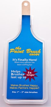 The Paint Brush Cover (10 pack). Professional Painting Brush Holder/Case. Holds 1