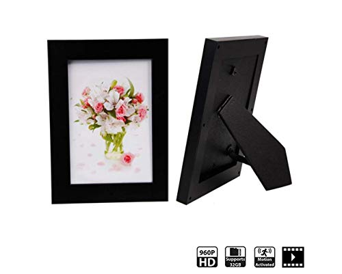 Hidden Spy Camera Photo Frame – Nanny Cam HD Recorder – Home Security Wireless Hidden Camera with Motion Detection Video Only by 1 Eye Products