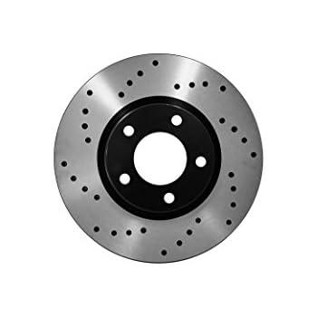 Front Cross Drill Brake Rotors Ceramic Pads Fit 94-99 Dodge Ram 1500 4x4