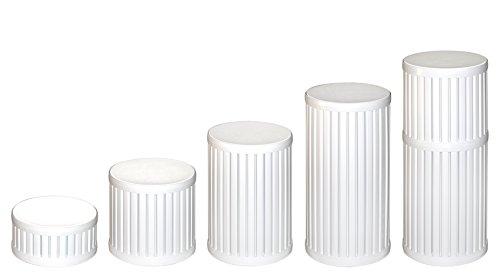 5 Pack of 12 Diameter Plastic Display Pedestals