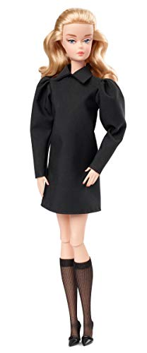 Barbie Fashion Model Collection Best in Black Doll, Approx..12-in Signature Doll with Silkstone Body Wearing Black Dress and Accessories, with Certificate of Authenticity