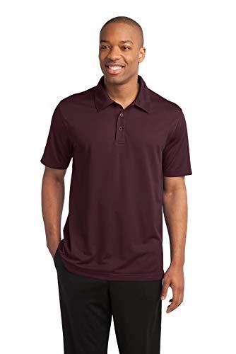 Sport-Tek Active Textured Polo Shirt, 3XL, Maroon