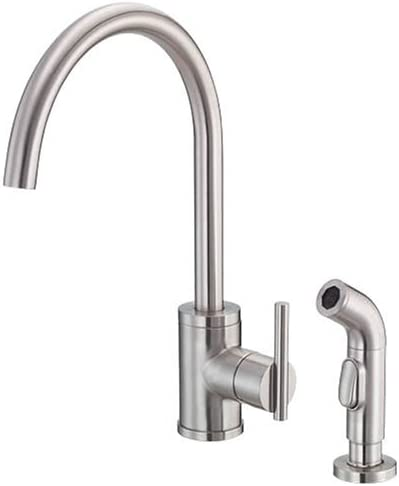 Danze D405058SS Parma Single-Handle Kitchen Faucet with Sprayer, Stainless Steel