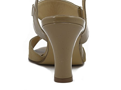 OSVALDO PERICOLI Women's Fashion Sandals beige Size: 5 lPt0Msd9