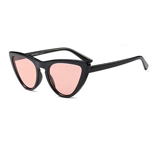 UV400 de primavera Gafas Deylaying de Fiesta Estilo Ojo Lente de Retro Bisagra 8 Rosa Negro Color C6 Escoger para gato sol Mujer Marco Moda Enorme Gafas EOEqwC6